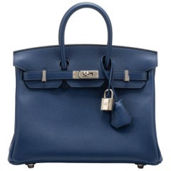 Hermès Blue Nuit Swift 25cm Birkin Bag