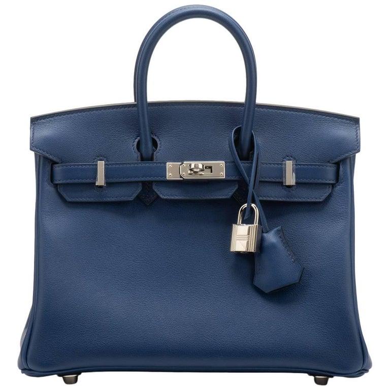 Hermès Blue Nuit Swift 25cm Birkin Bag