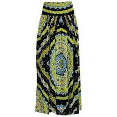 Emilio Pucci Signature Print Silk Maxi Skirt