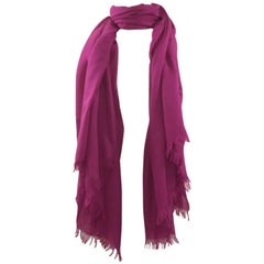 Hermes Pink Cashmere and Wool Shawl Wrap Scarf