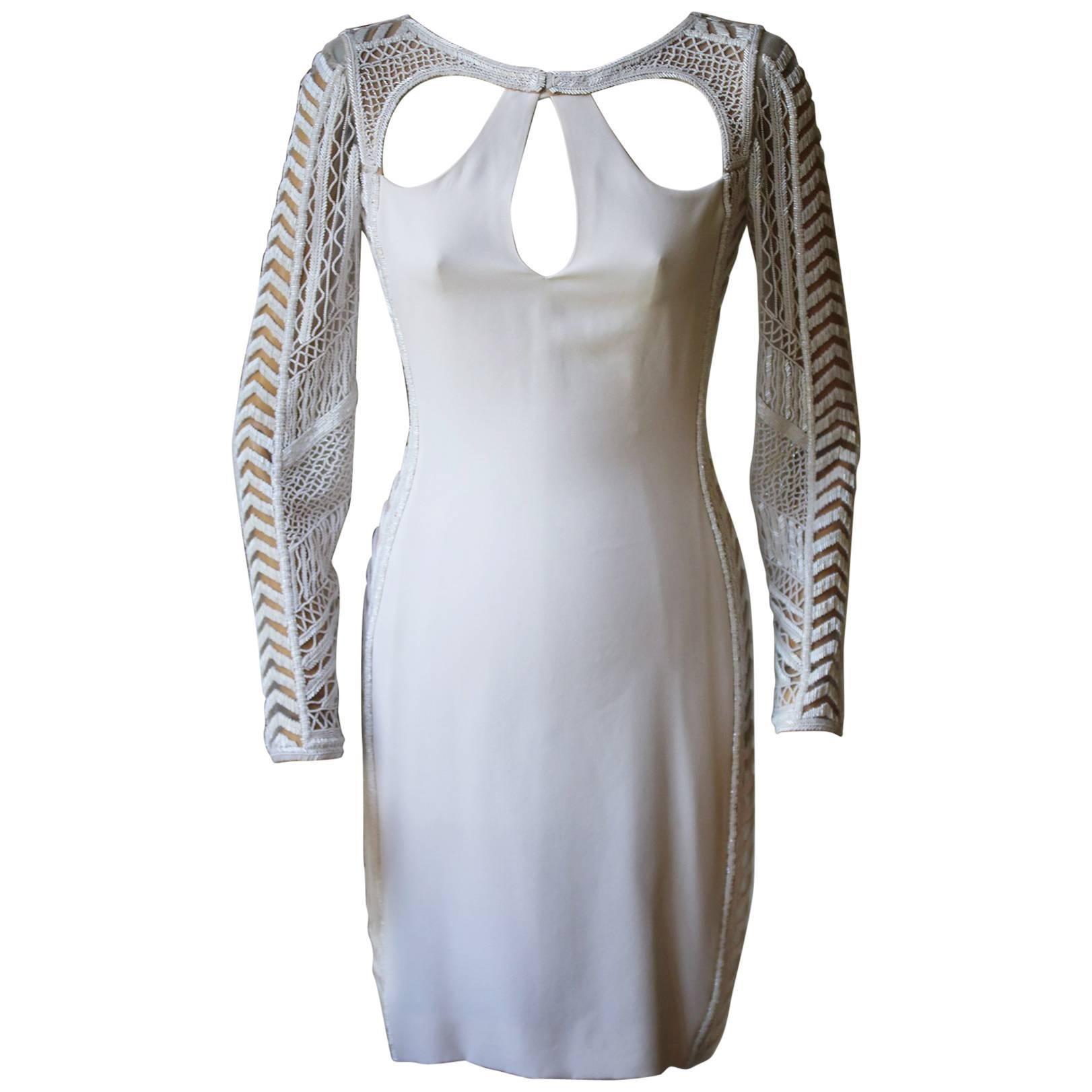 Emilio Pucci Bead Embellished Ivory Dress