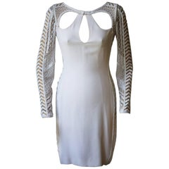 Emilio Pucci Bead Embellished Ivory Dress