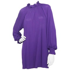 A 1960s Vintage Givenchy Haute Couture Silk Jersey Tunic