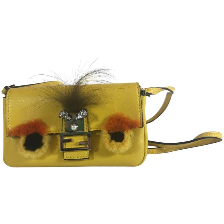 6256d7db596 Fendi Micro Monster Baguette For Sale at 1stdibs