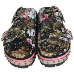 Alexander Mcqueen Floral Print Sandals