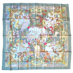 "Gucci "" Around the world"" Silk Scarf New, Never Worn 1990s"