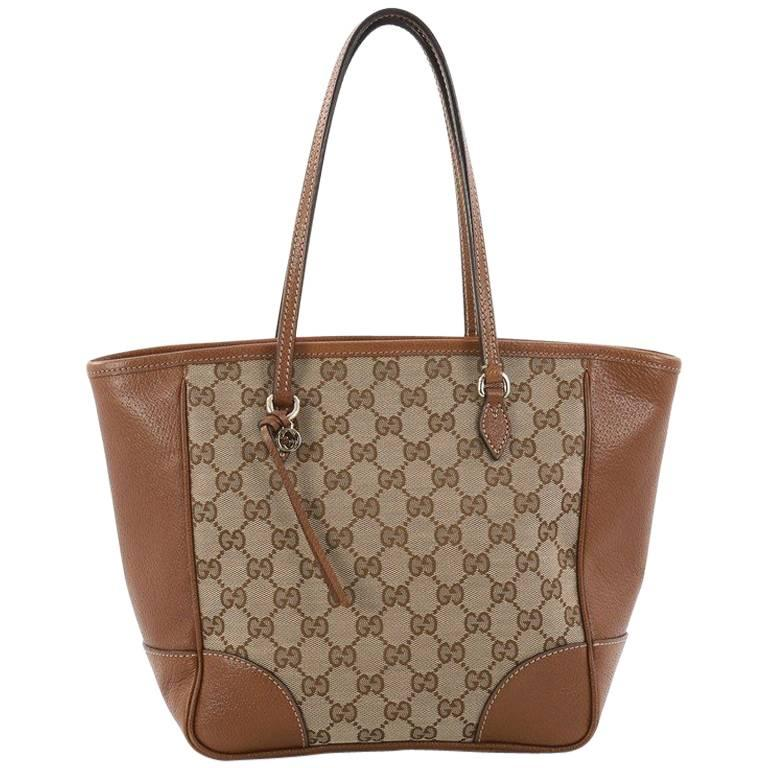 Gucci Bree Tote GG Canvas with Leather Small
