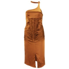 Tom Ford for Gucci 2003 Collection Silk Cooper Cocktail Dress 40 - US 4
