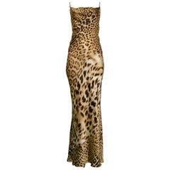 Vintage Roberto Cavalli Leopard Bias Gown