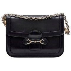 CELINE Vintage Bag in Navy Smooth Leather