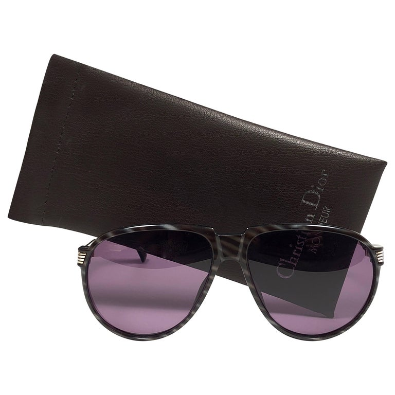 New Vintage Christian Dior Monsieur Oversized 2266 Sunglasses 1970's Austria