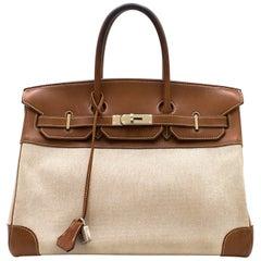 Hermes Barenia Canvas 35cm Birkin Bag