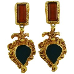 Christian Lacroix Vintage Baroque Dangling Earrings