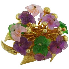 Christian Dior Vintage 1968 Floral Spray Brooch