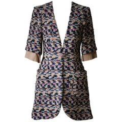Chanel Resort 2015 Dubai Collection Fantasy Wool Tweed Coat