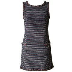 Chanel Wool Tweed Mini Dress