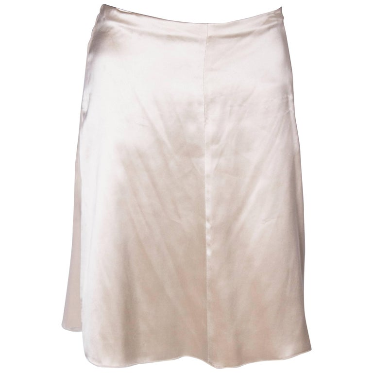 A Vintage cream Silk evening Skirt by Valentino For Sale
