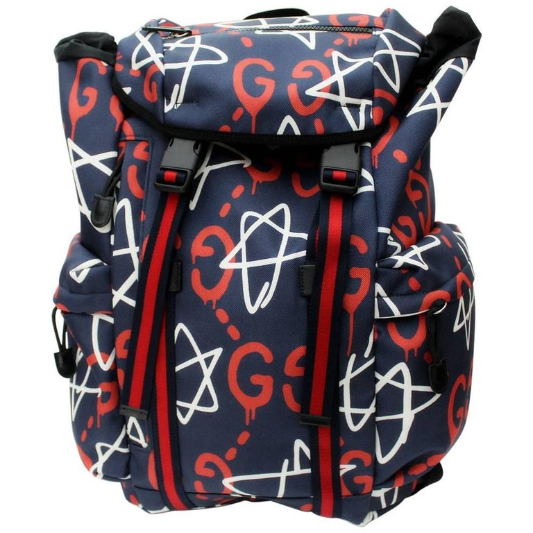 225583297cd473 Gucci Ghost Graffiti Backpack at 1stdibs