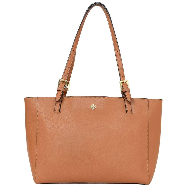 Tory Burch Tan Saffiano Small York Tote Bag For Sale at 1stdibs 44f3c8c347f8