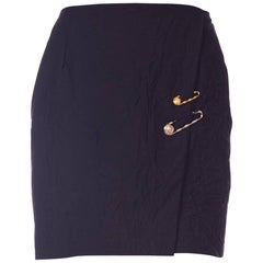 Gianni Versace Medusa Head Safety Pin Skirt, 1990s