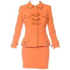 Gianni Versace Couture Tangerine Buckle Suit, 1990s