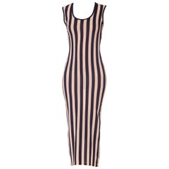 Gianni Versace Couture Striped Sheer Tank Dress