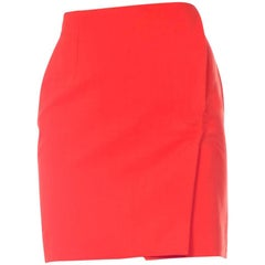 Gianni Versace 1990s Punk Collection Red Safety Pin Skirt