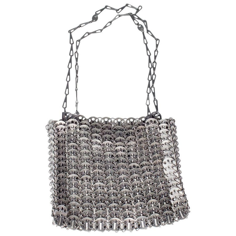 "Paco Rabanne ""Le 69"" Bag Reissue in Antique Silver Medallions For Sale"