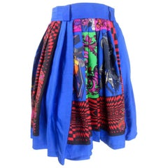 Gianni Versace Silk Print Skirt