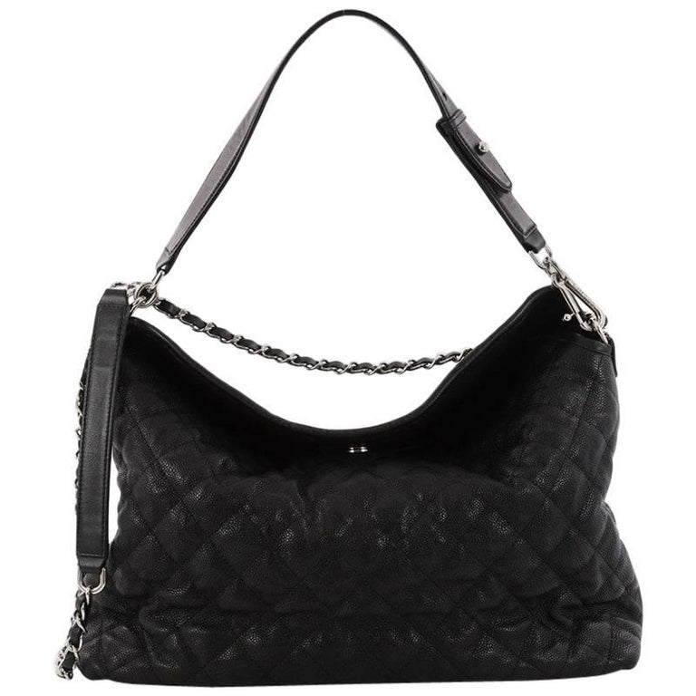26b456b5af6d Chanel French Riviera Hobo Quilted Caviar Large at 1stdibs