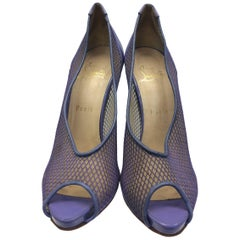 Christian Louboutin Purple Peep Toe Heel