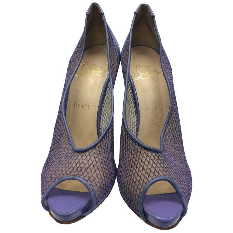 Christian Louboutin Purple Peep Toe Heel