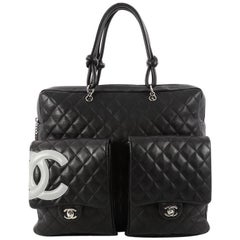 Chanel Cambon Briefcase Quilted Lambskin Large