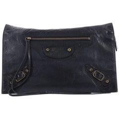 Balenciaga Papier View Clutch Leather