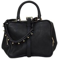 Alexander Wang Black Leather Anita Satchel Bag