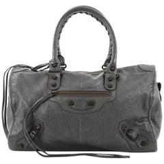 Balenciaga Twiggy Classic Studs Handbag Leather Maxi