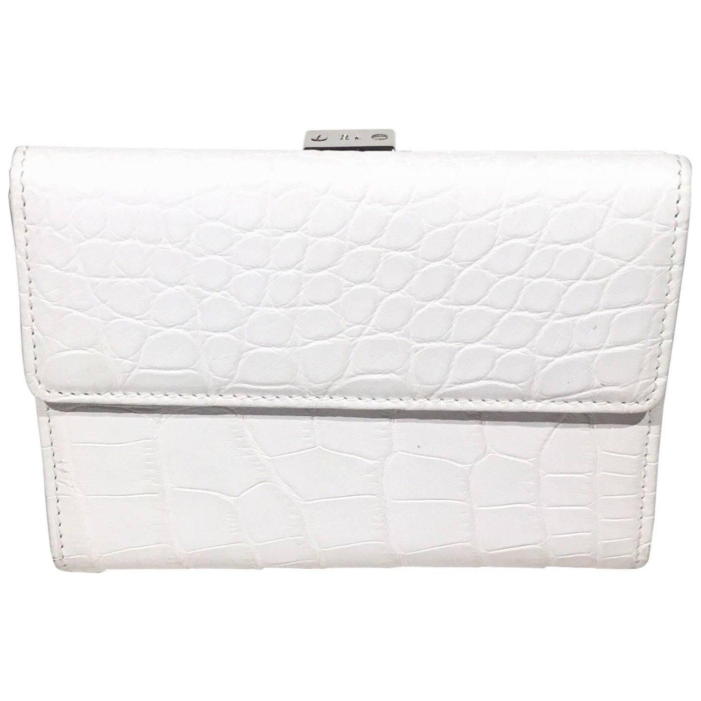 54054b32ac Ralph Lauren White Crocodile Wallet For Sale at 1stdibs