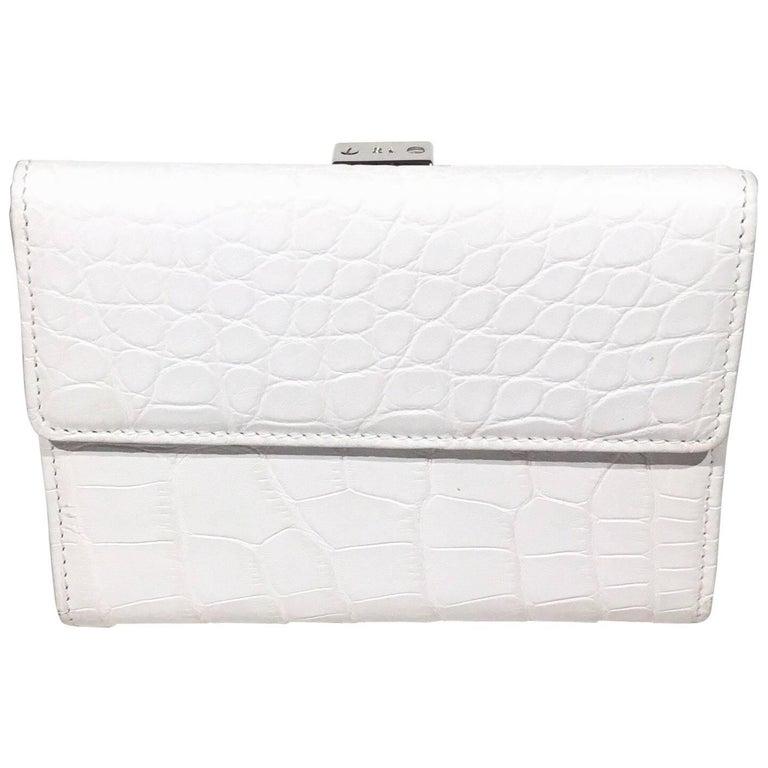 Ralph Lauren White Crocodile Wallet