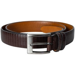 Men's Italian Basketweave Textured Leather Belt – Neiman Marcus, 21st Century