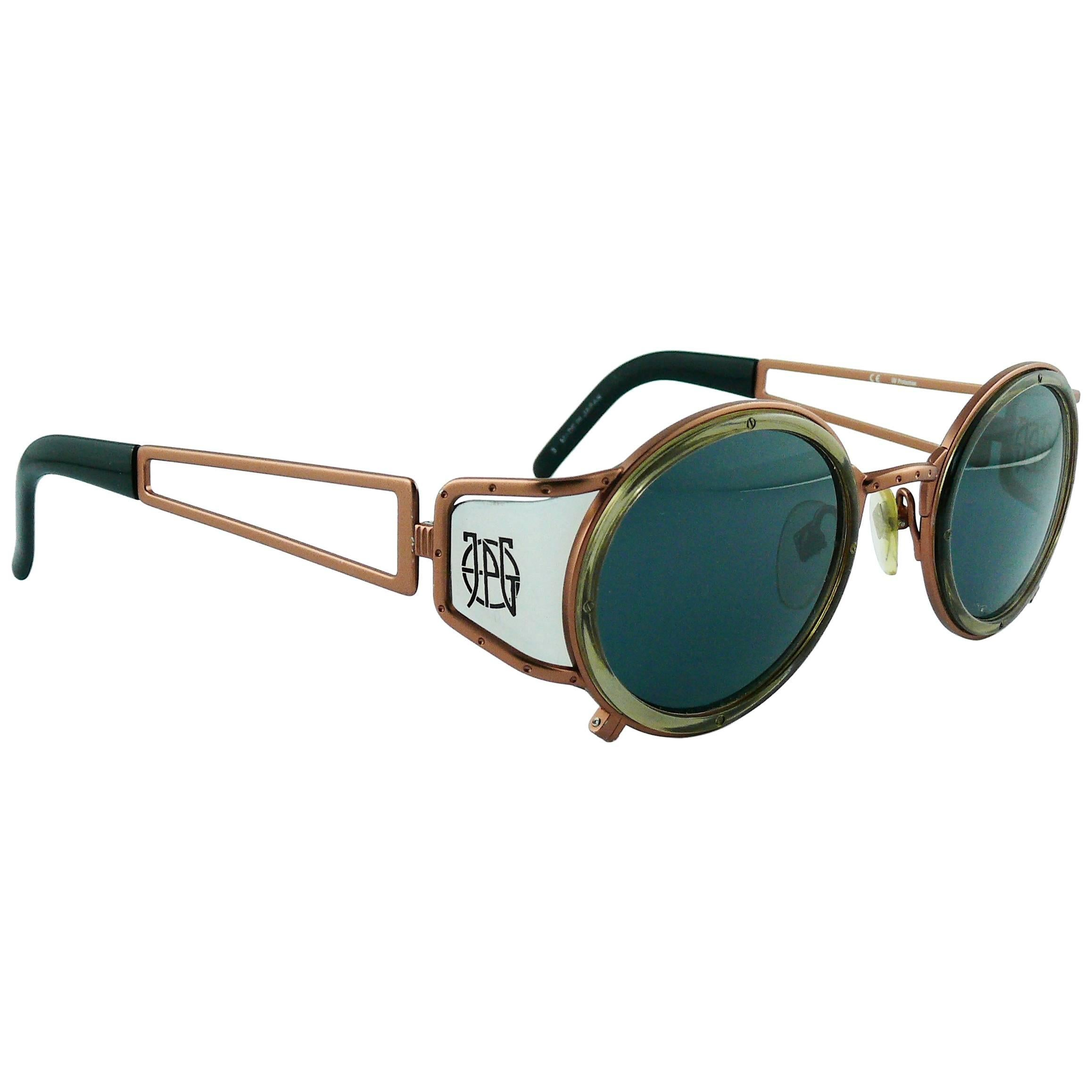 Jean Side With 6201 Paul Vintage Sunglasses 58 Shields Gaultier 2EYeWHID9