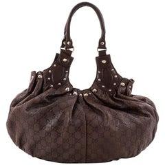 Gucci Pelham Shoulder Bag Studded Guccissima Leather Medium