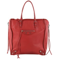 Balenciaga Papier A4 Zip Around Classic Studs Handbag Leather Mini