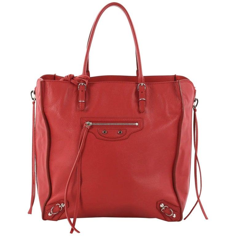 aca486884da Balenciaga Papier A4 Zip Around Classic Studs Handbag Leather Mini For Sale