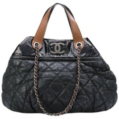 Chanel Black Coco Cocoon Tote Bag