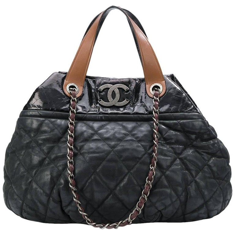 04a8d6e7f8aa Chanel Black Coco Cocoon Tote Bag at 1stdibs