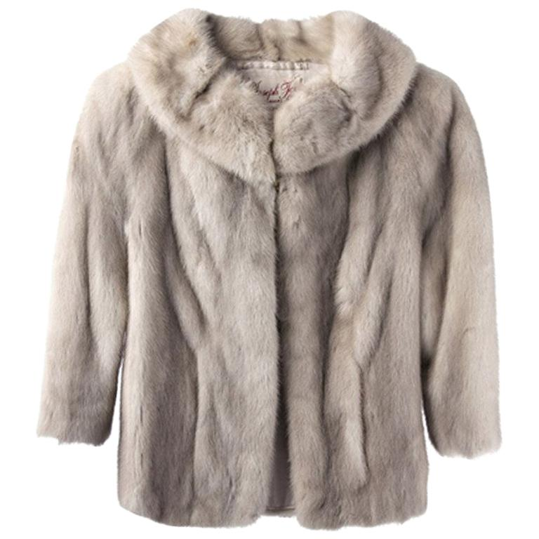 Vintage 1950 S Silver Mink Fur Coat At, How Much Did A Mink Coat Cost In 1950