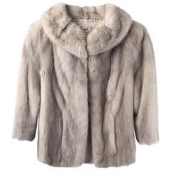 Vintage 1950's Silver Mink Fur Coat