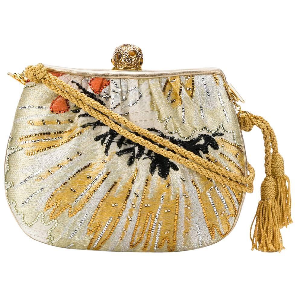 Vintage Judith Leiber Gold Clutch Bag