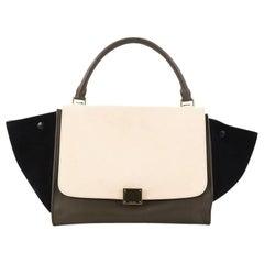 Celine Tricolor Trapeze Handbag Leather Small