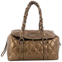 Chanel Lady Braid Flap Tote Quilted Distressed Lambskin Medium